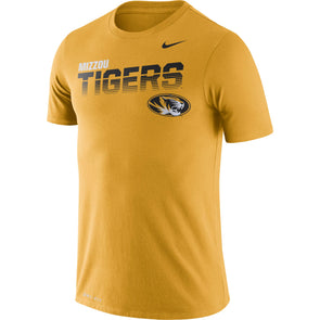 Mizzou Nike® 2019 Legend Sideline Gold Oval Tiger Head Tigers T-Shirt