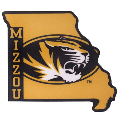 Mizzou State Outline Black & Gold Sticker