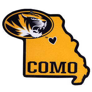 CoMo Oval Tiger Head State Decal