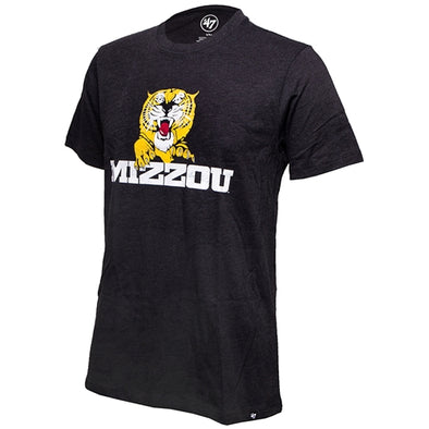 Mizzou Tiger Black Club Crew Neck T-Shirt