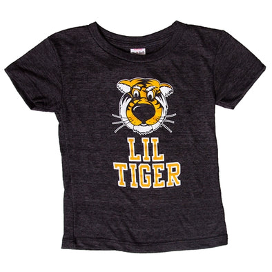 Mizzou Charlie Hustle Co. Toddler Lil Tiger Black Crew Neck T-Shirt