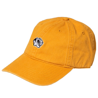 Mizzou Embroidery Tiger Head Mustard Yellow Adjustable Hat