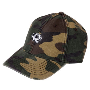 Mizzou Embroidery Tiger Head Camo Relaxed Twill Hat