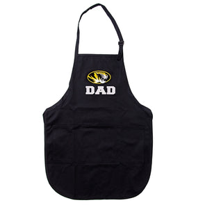 Mizzou Dad Oval Tiger Head Black Apron
