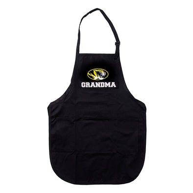 Mizzou Grandma Oval Tiger Head Black Apron