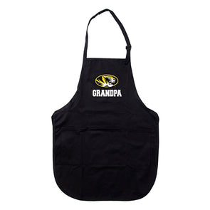 Mizzou Grandpa Oval Tiger Head Black Apron