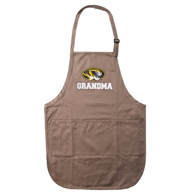 Mizzou Grandma Oval Tiger Head Brown Apron
