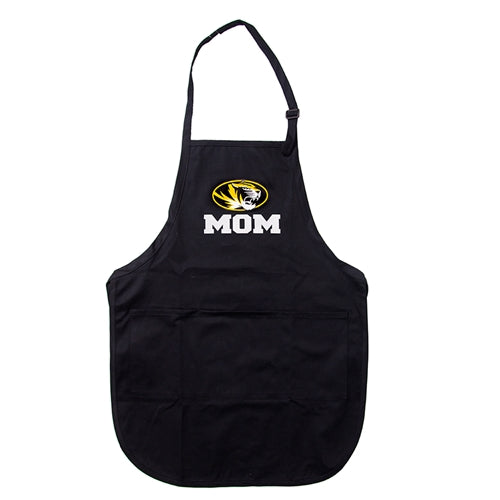 Mizzou Mom Oval Tiger Head Black Apron
