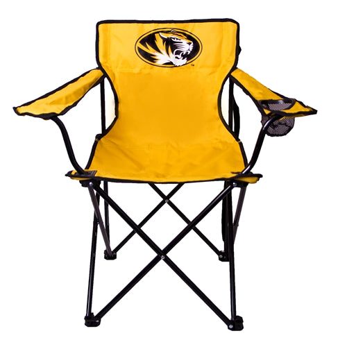 Mizzou Oval Tiger Head Gold Tailgate Chair