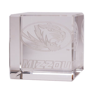 "Mizzou Oval Tiger Head 2.25"" x 2.25"" Crystal Cube"