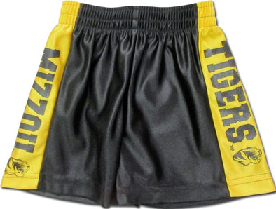 Mizzou Youth Dazzle Black and Gold Shorts