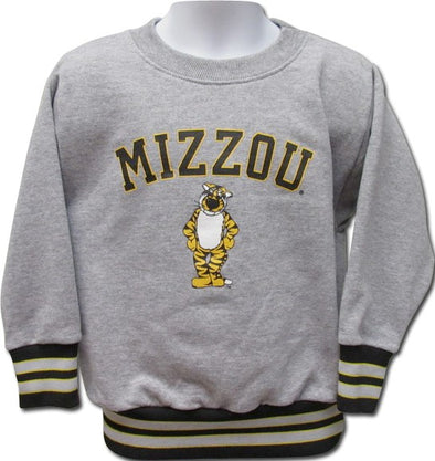 Mizzou Toddler Truman Grey Crew Sweatshirt