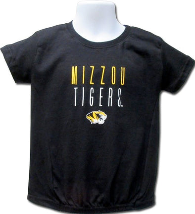 Mizzou Tigers Toddler Girls Tiger Head Black T-Shirt