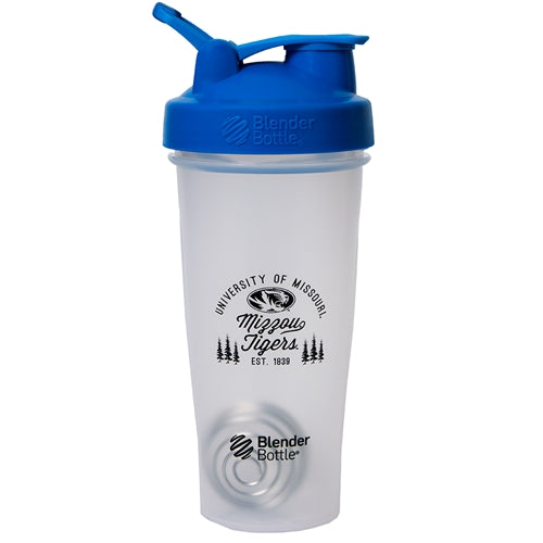 University of Missouri Mizzou Tigers Est 1839 Blender Bottle® with Blue Lid