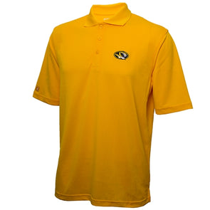 Mizzou Oval Tiger Head Xtra Lite Gold Polo