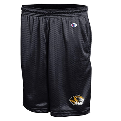 Mizzou Tiger Head Black Mesh Shorts