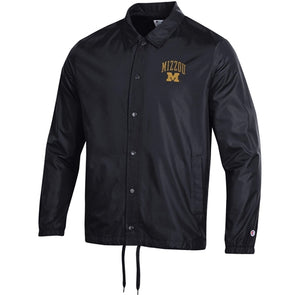 Mizzou Block M Collared Black Snap Jacket