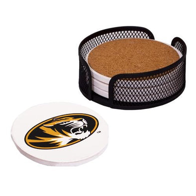 Mizzou Oval Tiger Head Coaster Gift Set