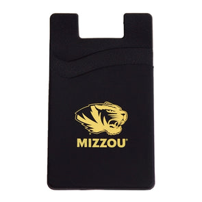 Mizzou Tiger Head Black Double Pocket Card Holder