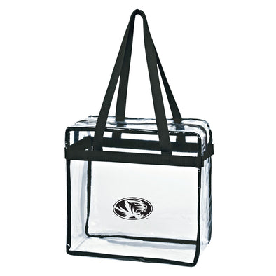 Mizzou Game Day Clear Oval Tiger Head Zippered Stadium Tote