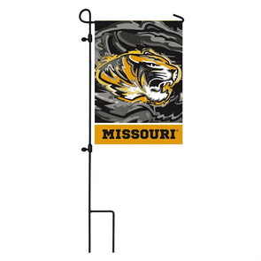 Mizzou Suede Tiger Head Garden Flag