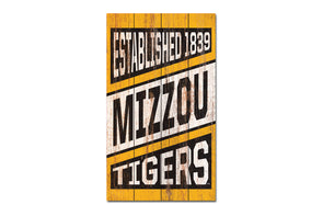 Mizzou Sign Wood Plank 14 X 24