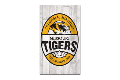 Mizzou Wood Plank Sign 14 X 24