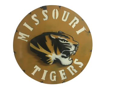 Missouri Tigers 3-D Metal Wall Sign