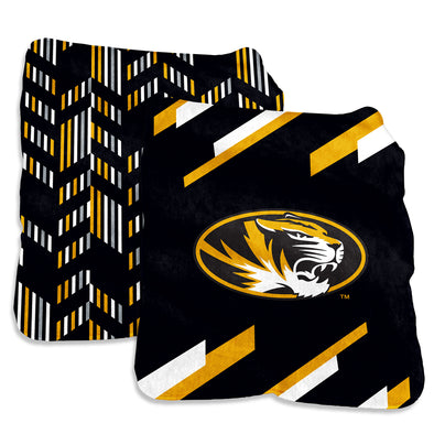Mizzou Super Plush Reversible Oval Tiger Head Blanket