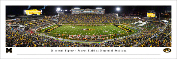 Mizzou Print Faurot Field Homecoming 2019