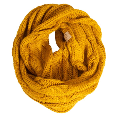 SCARF FASHION FL19 KIDS KNITTED INFINITY SCARF