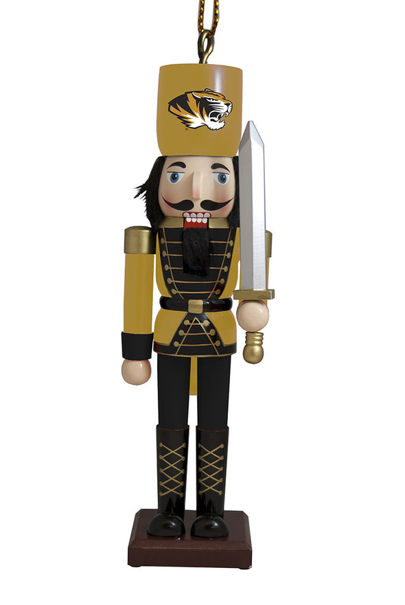 Mizzou Nutcracker with Sword Ornament