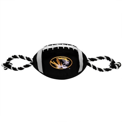 Mizzou Pet Nylon Football with Rope Toy