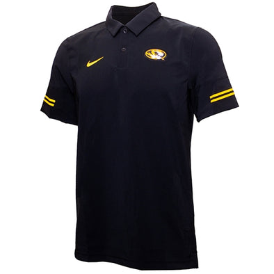 Mizzou Nike® 2020 Coaches Flex Oval Tiger Head Black Polo