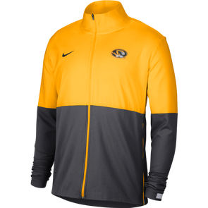 Mizzou Nike® 2020 Full Zip Team Issue Black and Gold Oval Tiger Head Jacket