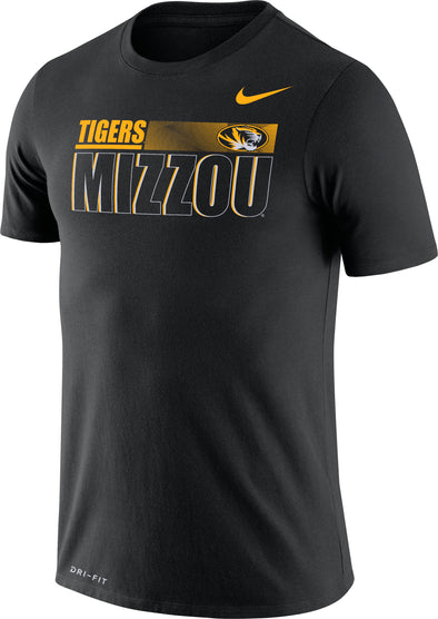 Mizzou Nike® 2020 Tigers Team Issue Dri-Fit Black T-Shirt