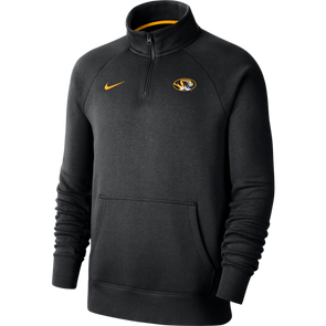 Mizzou Nike® 2020 1/4 Zip Black Oval Tiger Head Sweatshirt