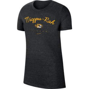 Mizzou Nike® 2020 Ladies Mizzou Rah Oval Tiger Head Black T-Shirt