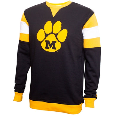 Mizzou M Paw Champion Black and Gold Sweatshirt