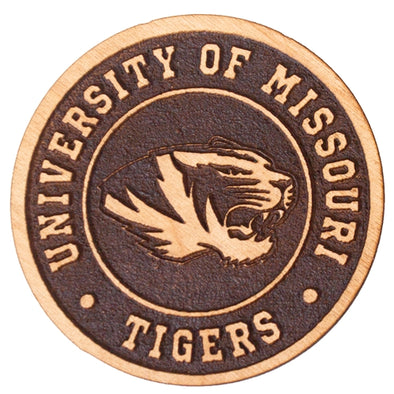 Mizzou Tiger Head University of Missouri Alderwood Magnet