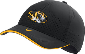 Mizzou Nike® 2020 Oval Tiger Head Team Issue Black Stretch Fit Hat