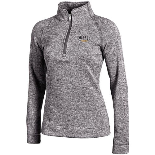 Mizzou Tigers Champion Women's Heather Grey 1/4 Zip Jacket