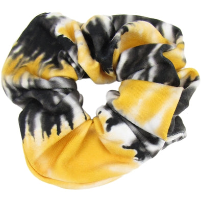 Mizzou Black and Gold Tye Dye Scrunchie