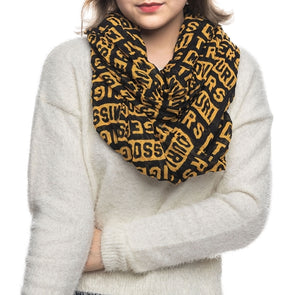 Missouri Tigers Block BLack and Gold Infinity Scarf
