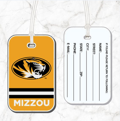 Mizzou Acrylic Gold Luggage Tag