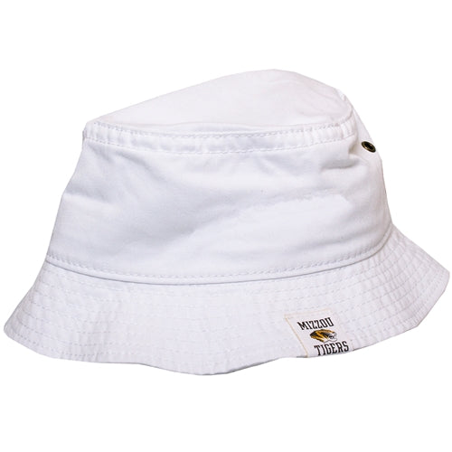 Mizzou Tigers Tiger Head White Bucket Hat
