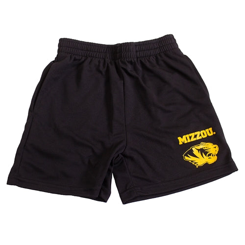 Mizzou Tiger Head Black Toddler Shorts