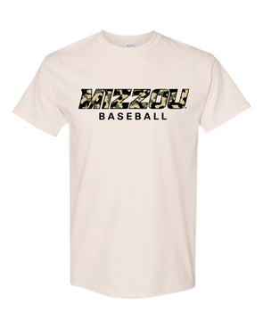 Mizzou Baseball 2020 Off White Camo T-Shirt