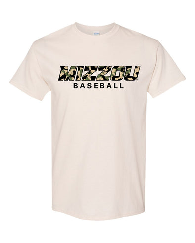 Mizzou Baseball 2021 Off White Camo T-Shirt