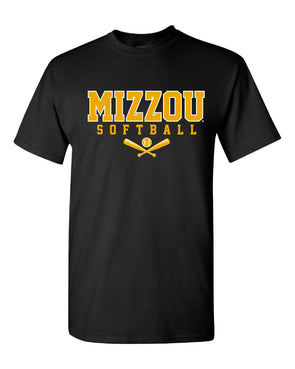 Mizzou Softball Cross Bats 2021 Black T-Shirt
